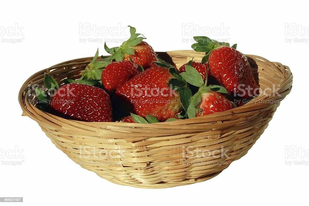 Small basket of strawberries royalty-free stock photo