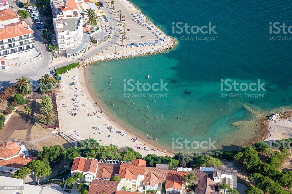 small bay beach stock photo