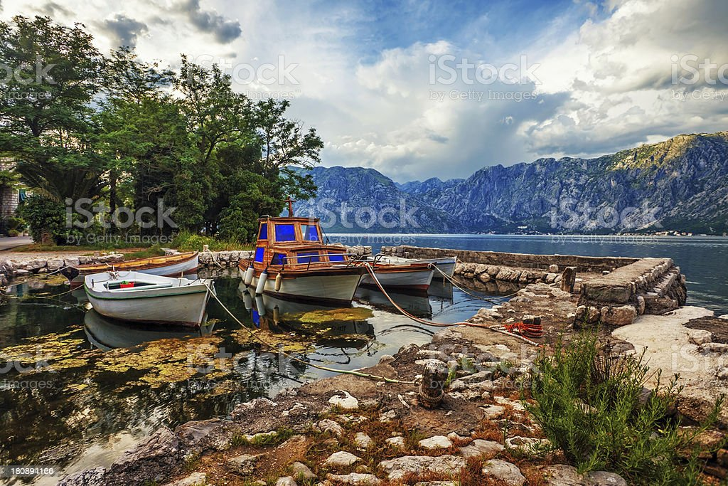 small bay with boats royalty-free stock photo