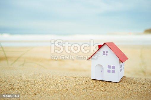istock Small beach house 509042004