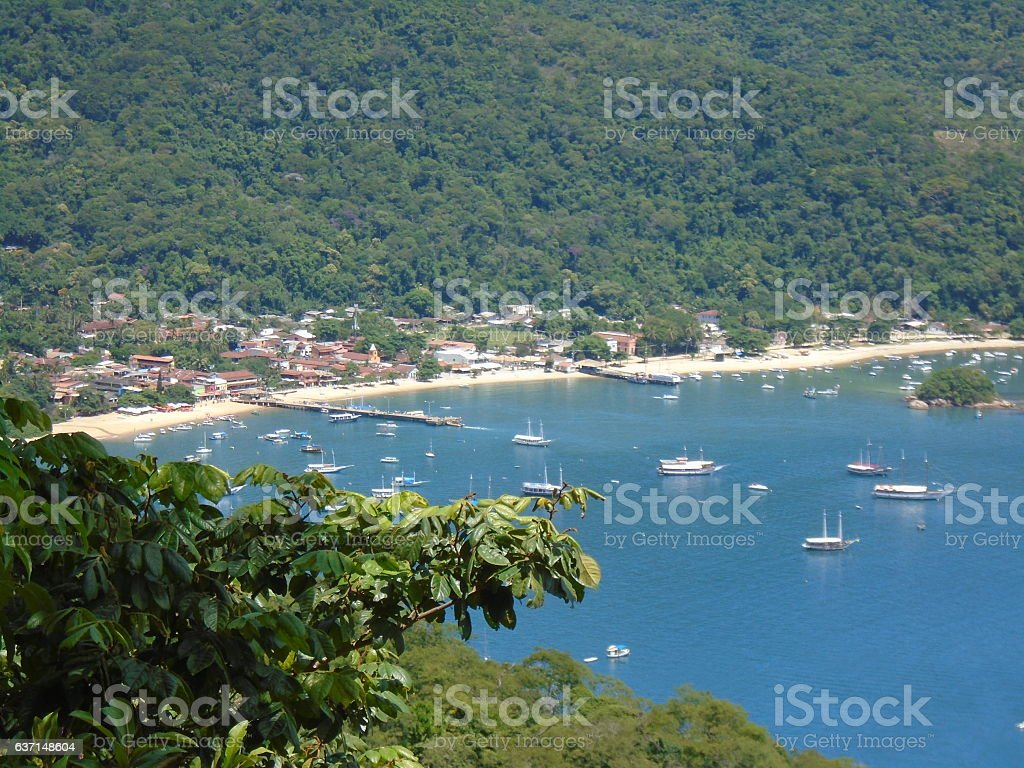 Small beach in Angra dos Reis, Brazil stock photo