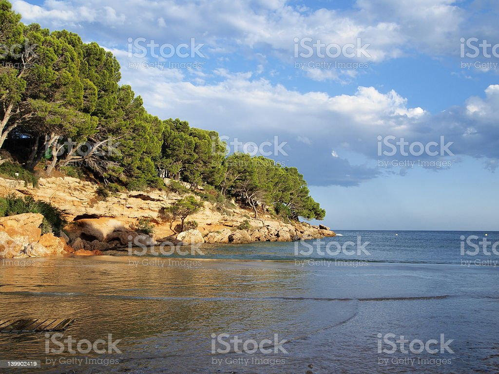 Small beach royalty-free stock photo