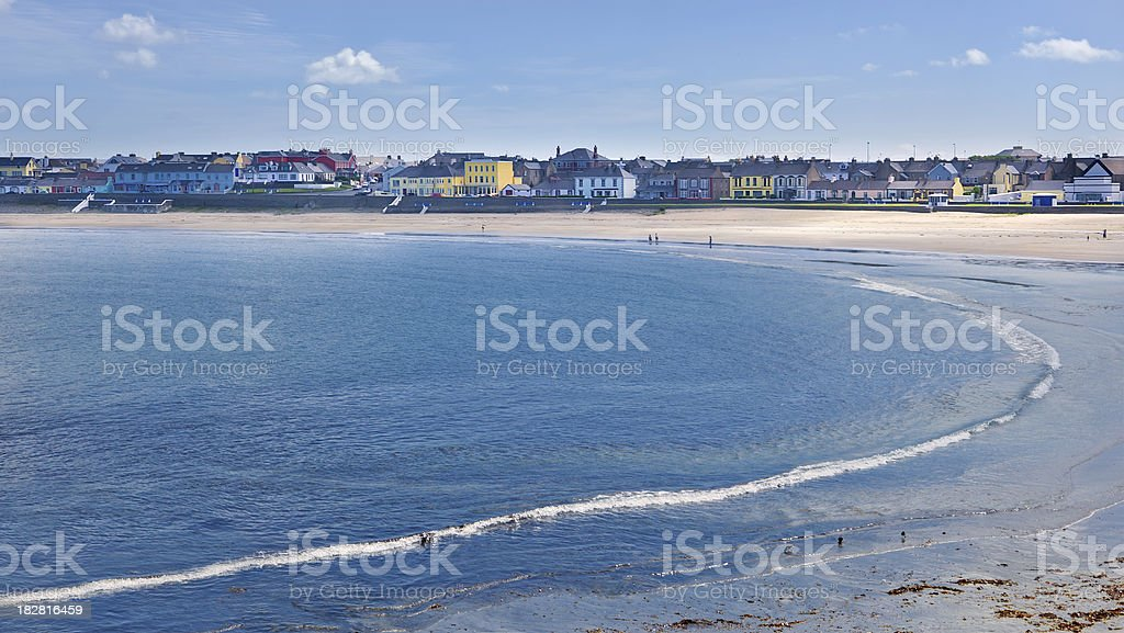 Small Beach Town in Ireland stock photo