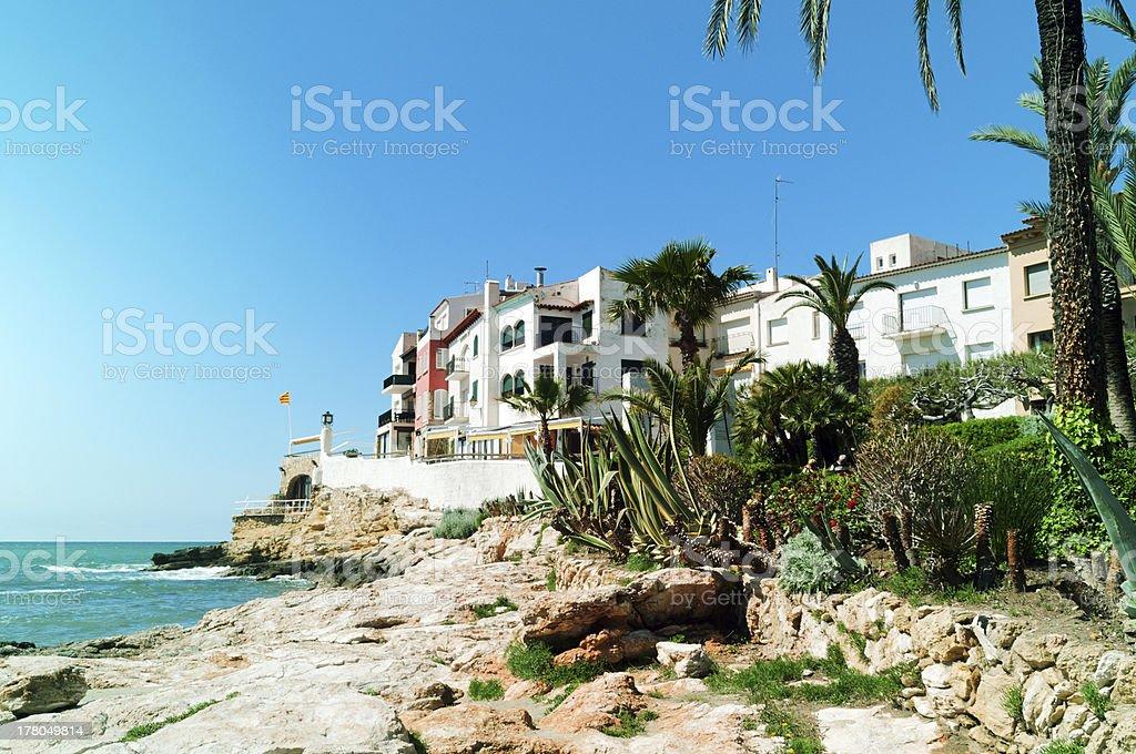 Small beach town royalty-free stock photo