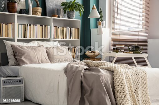 istock Small bedroom with designer decor 961916566