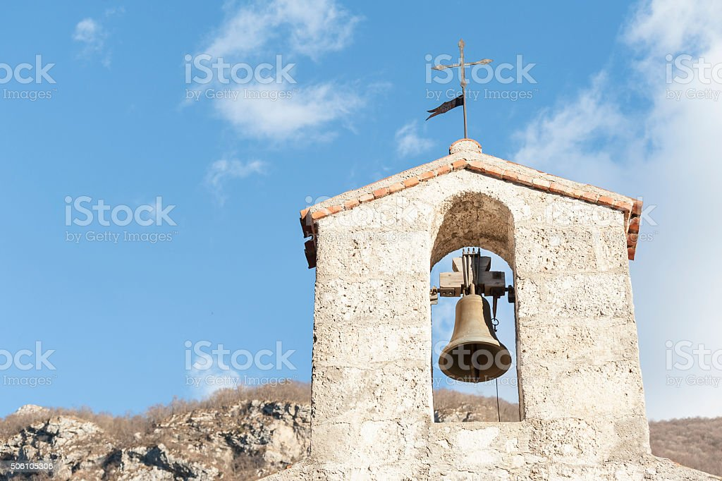 Small bell tower stock photo