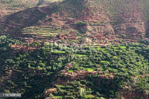 istock A small Berber village in the Atlas Mountains, Morocco. 1197438153