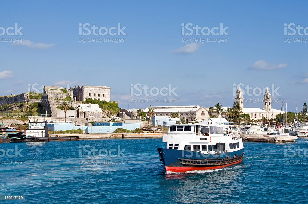 Small Bermuda Ferry stock photo
