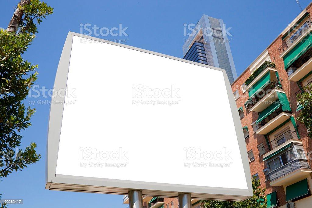 Small billboard in street. Series royalty-free stock photo