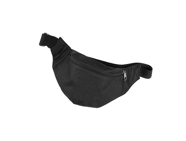 small black bag - waist bag stock photos and pictures