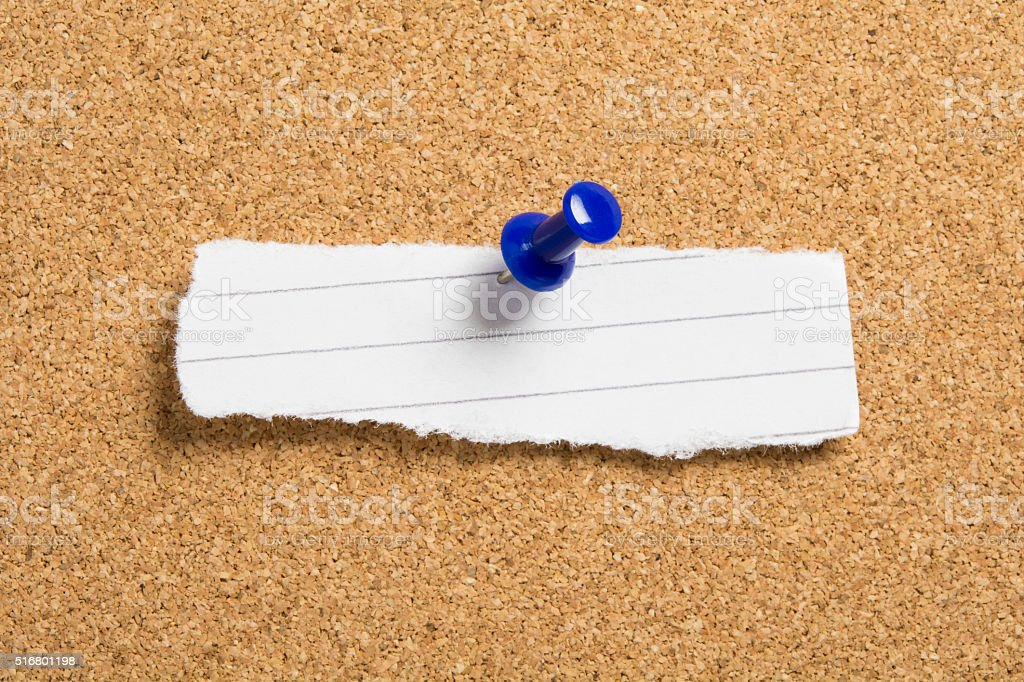 Small blank torn note paper with lines stock photo