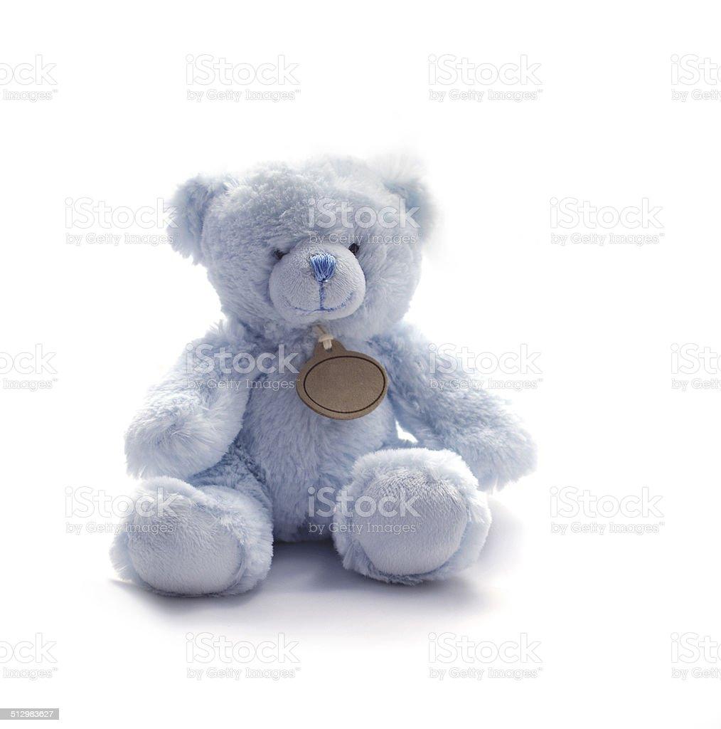 Small Blue Teddy Bear Toy stock photo