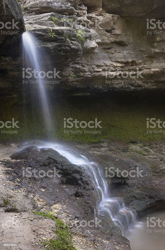 small blurred waterfall royalty-free stock photo