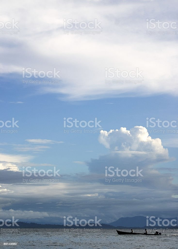 Small Boat - Big sky royalty-free stock photo