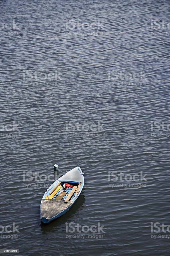 Small Boat on the Nile stock photo