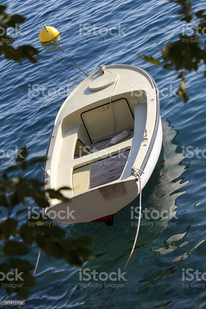 small boat stock photo