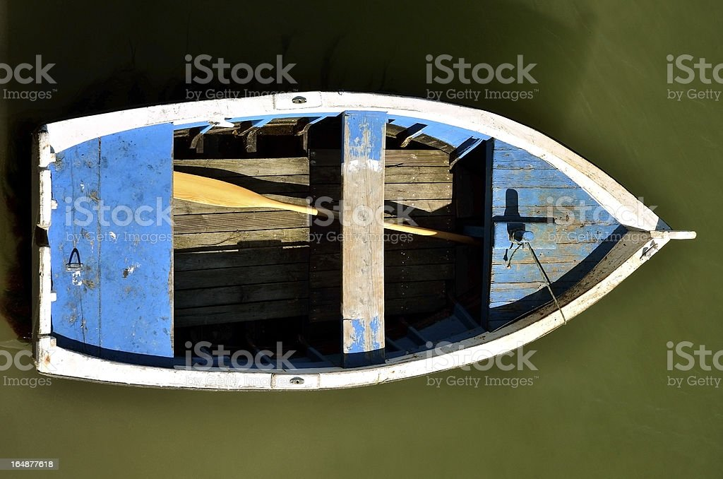 Small boat seen from above royalty-free stock photo