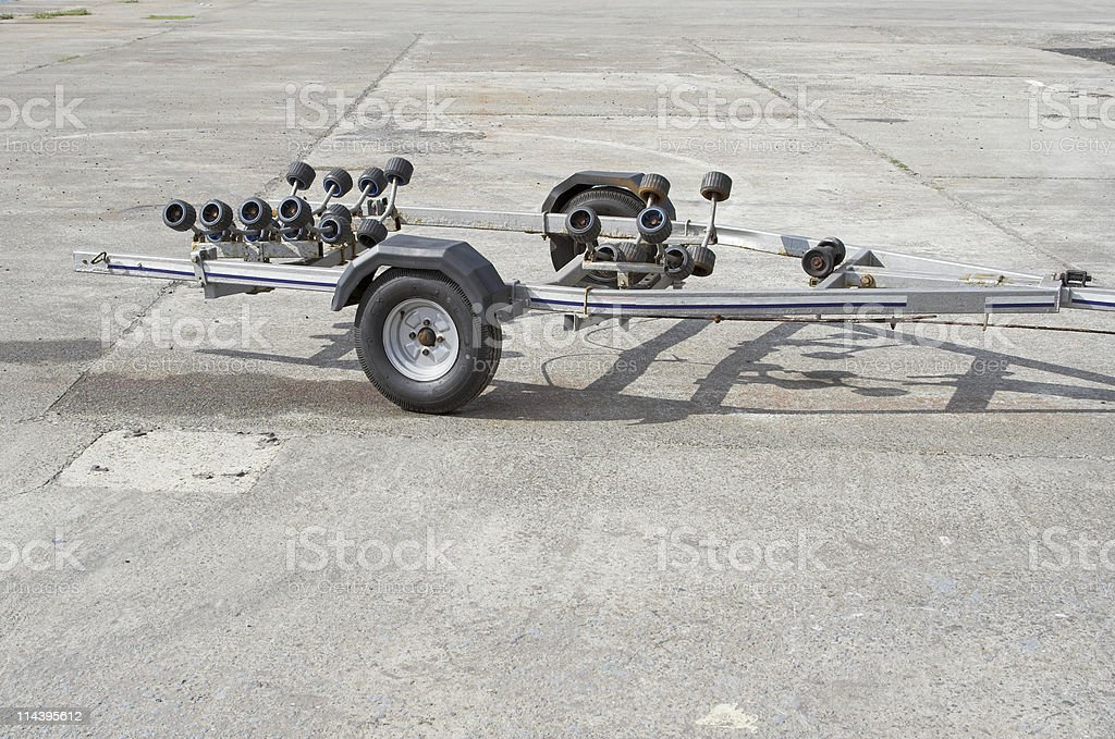 Small Boat Trailer royalty-free stock photo