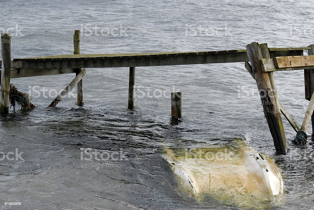 Small Boat upside down royalty-free stock photo