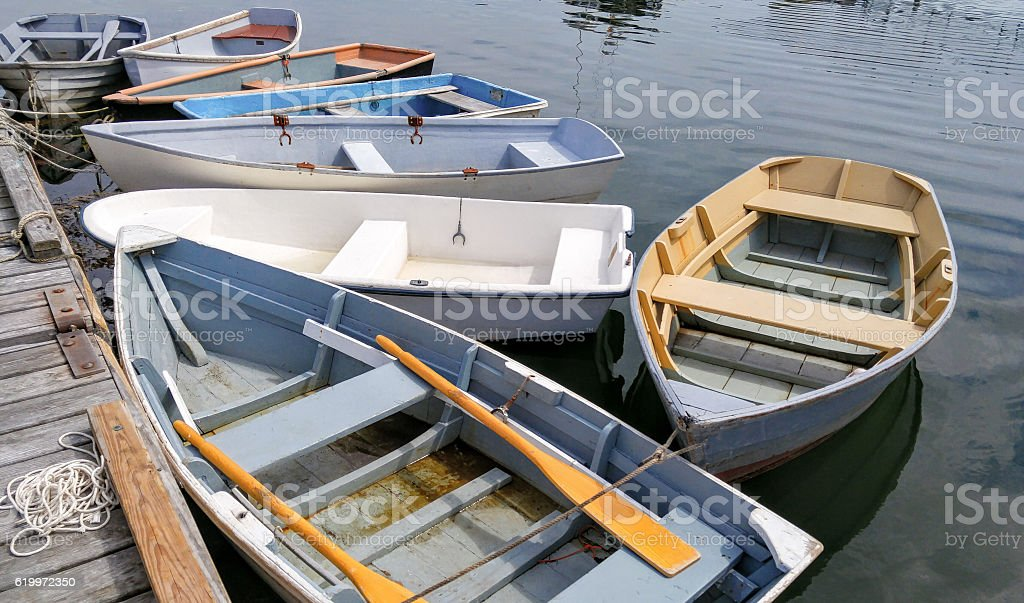 Small Boats at a Dock - foto de acervo