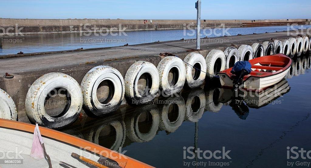 Small boats at dock royalty-free stock photo
