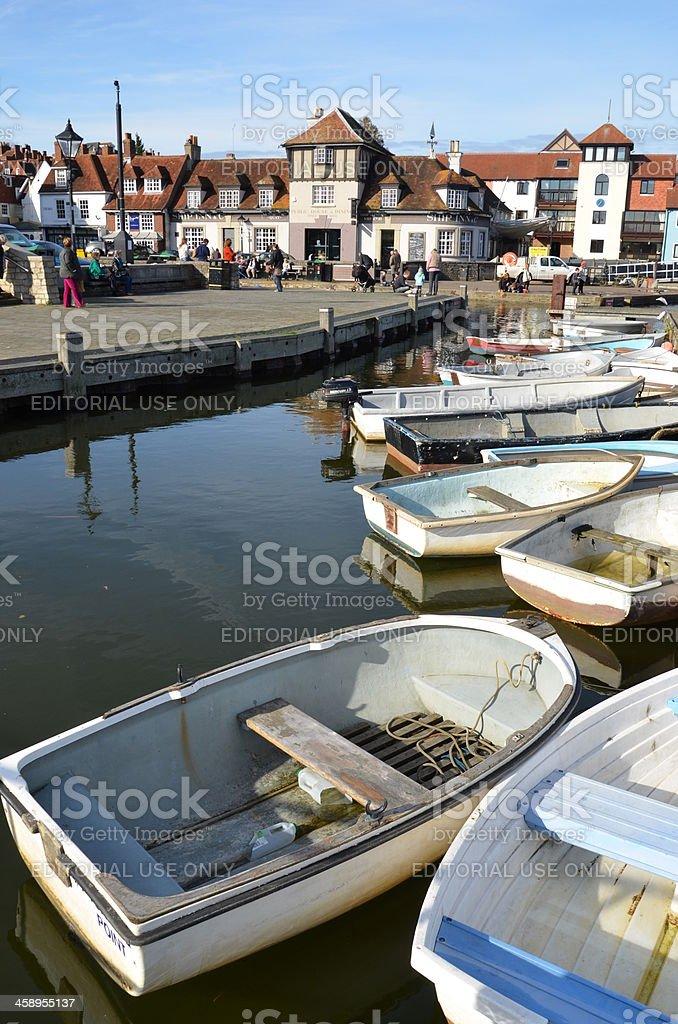 Small Boats in Lymington stock photo