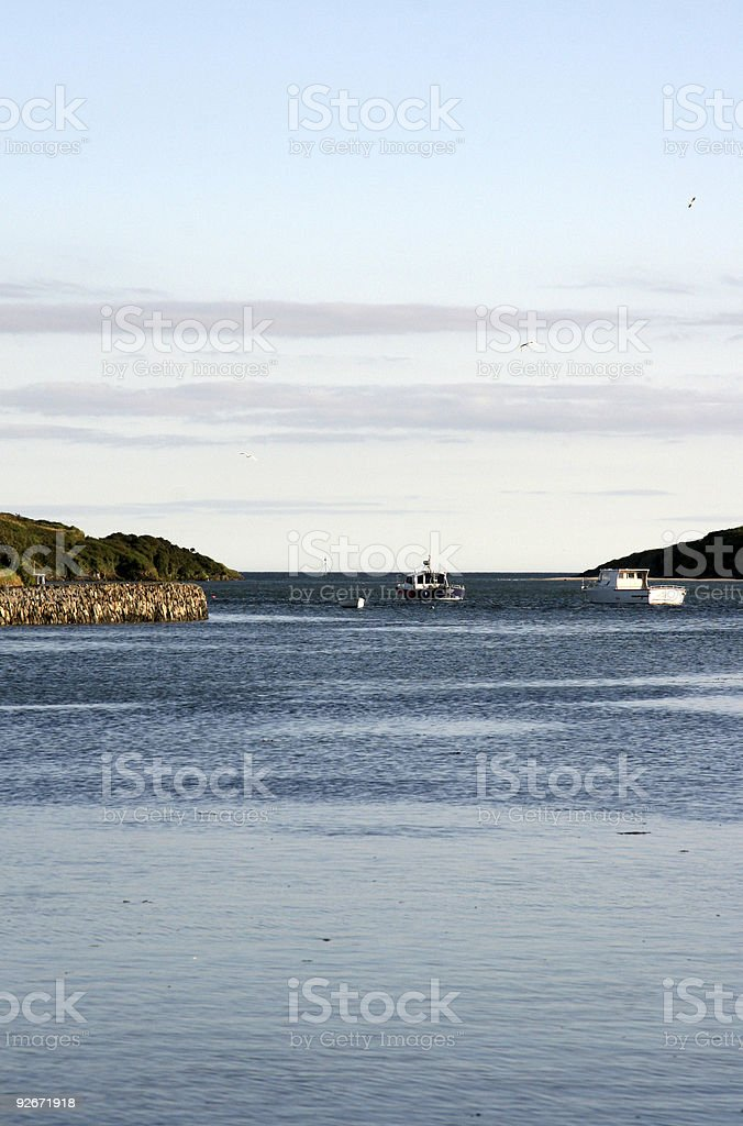 small boats  - south west ireland stock photo