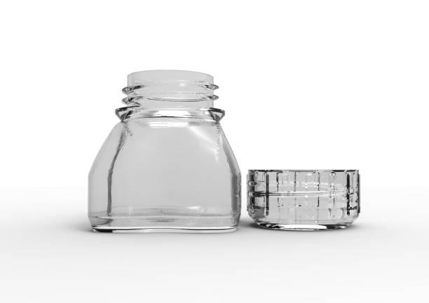 küçük 3D şişe stok fotoğrafı