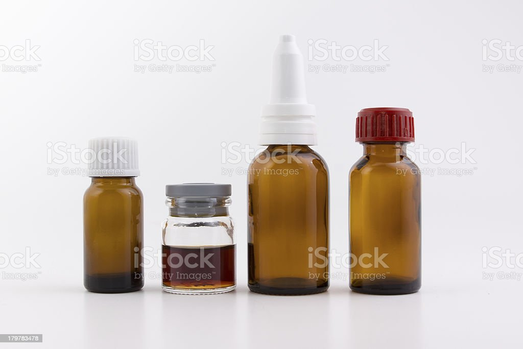 small bottles royalty-free stock photo