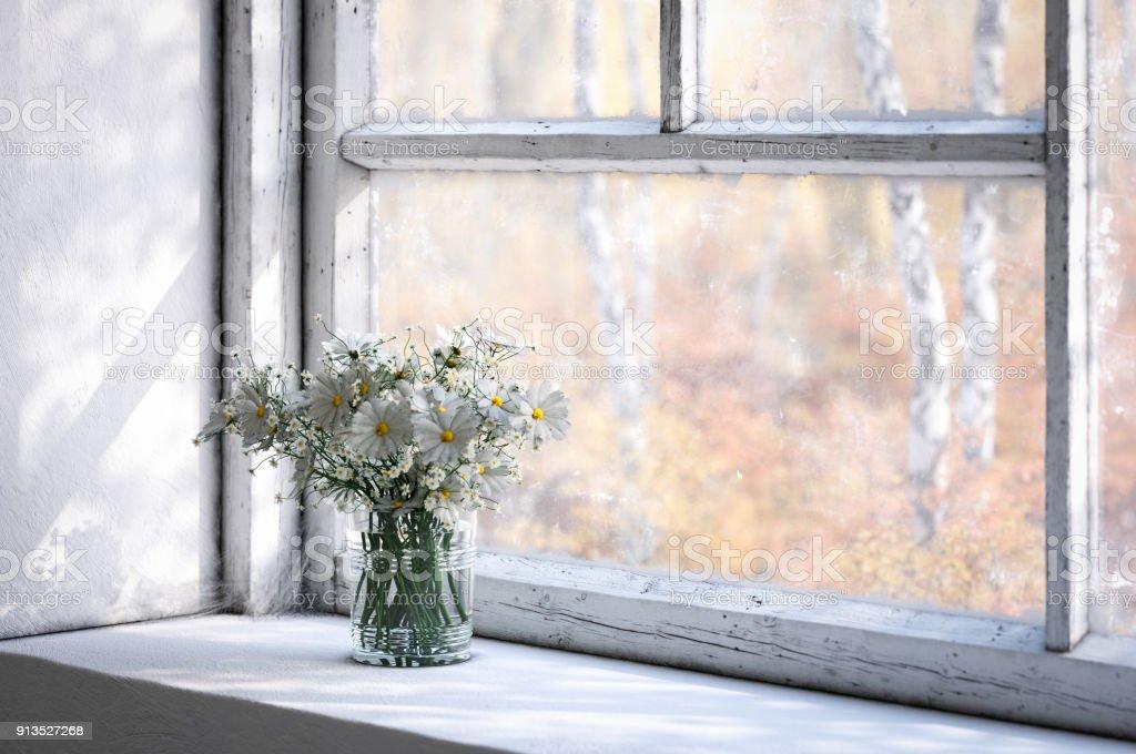 window sill bouquet daisies daisy istock royalty generated digitally wildflowers drinking glass istockphoto