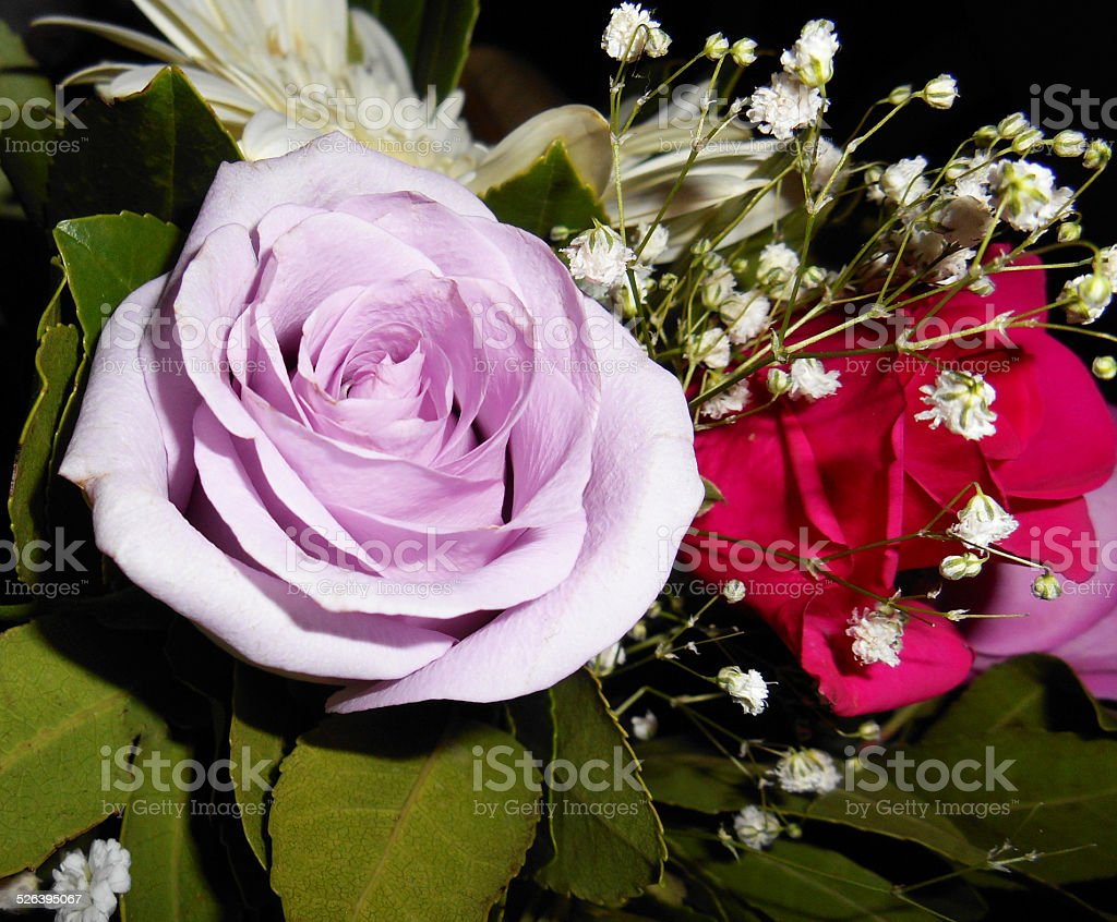 Small bouquet of flowers stock photo