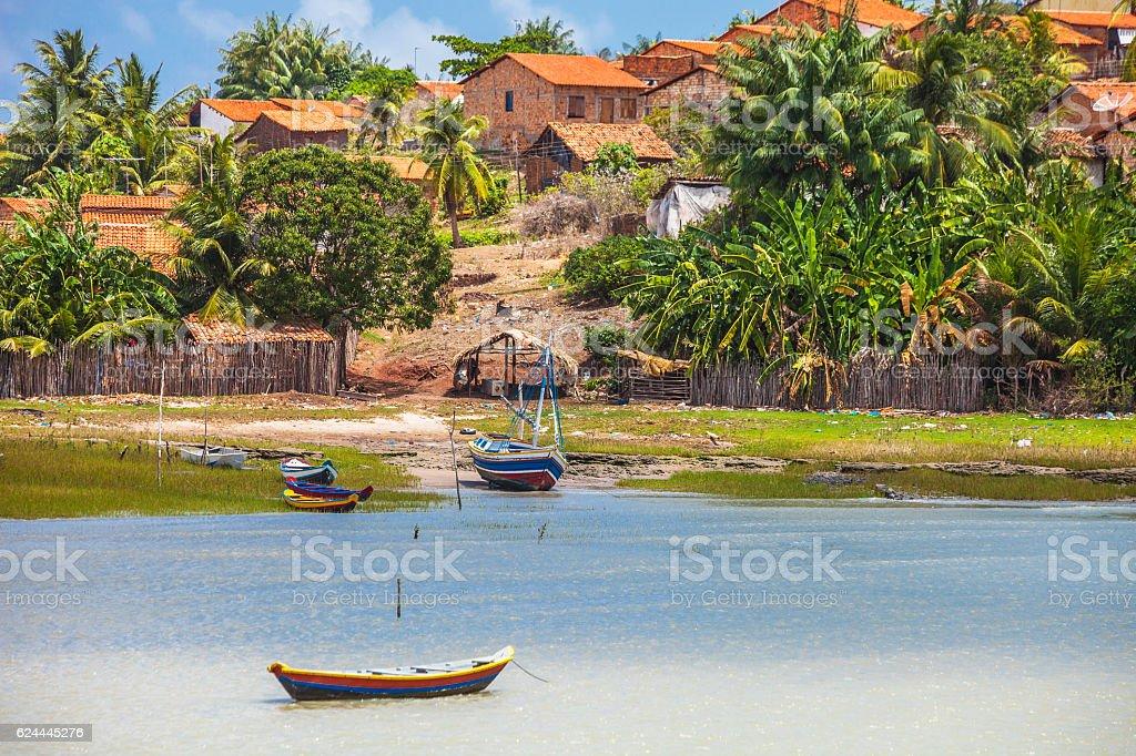 Small brazilian town. Alcantara, Maranhao. stock photo