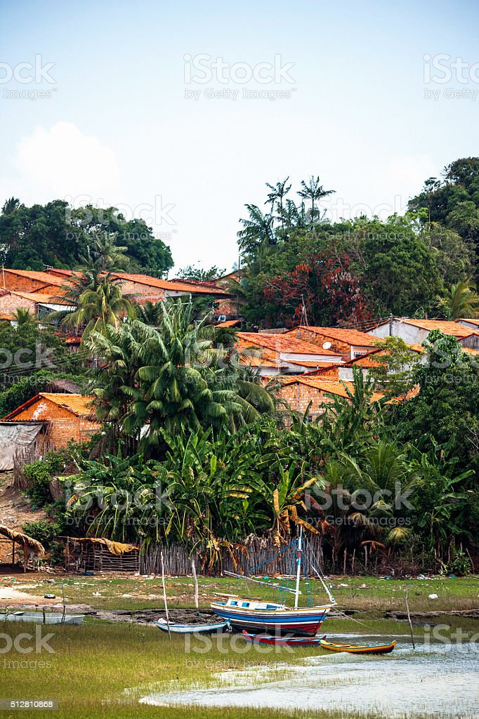 Small brazilian town - Alcantara. stock photo