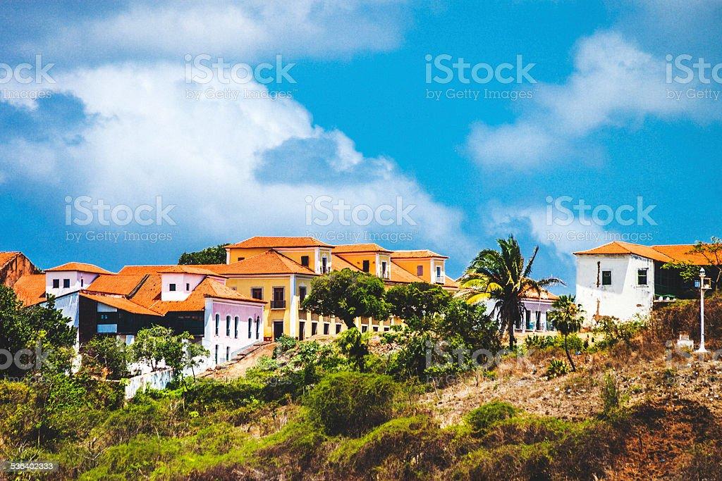 Small brazilian town. stock photo