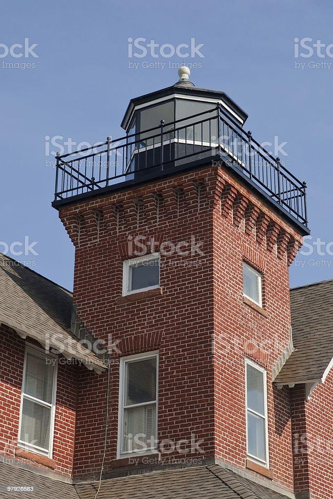 Small Brick Lighthouse royalty-free stock photo