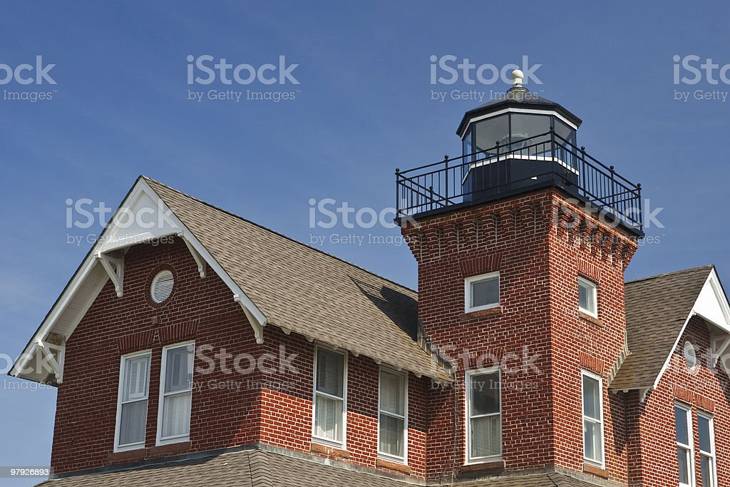 Small Brick Lighthouse royalty-free stock photo