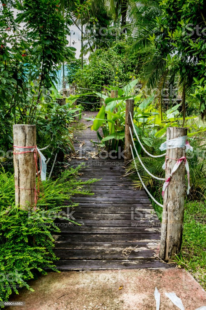 Small Bridge In Garden Royalty Free Stock Photo