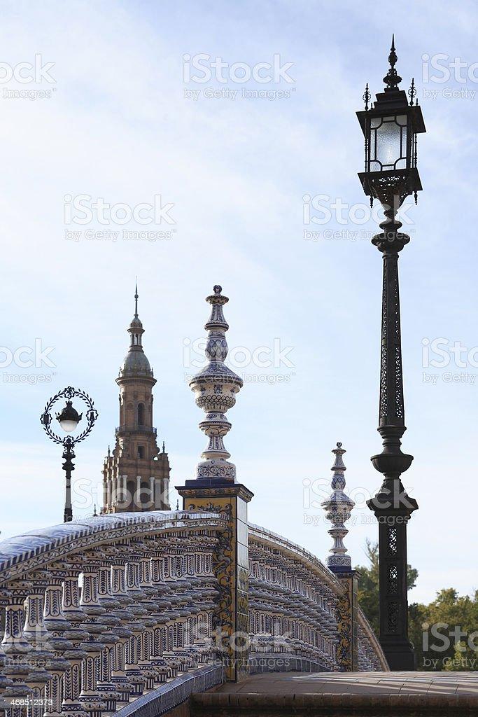 Small Bridge In Sevilla royalty-free stock photo