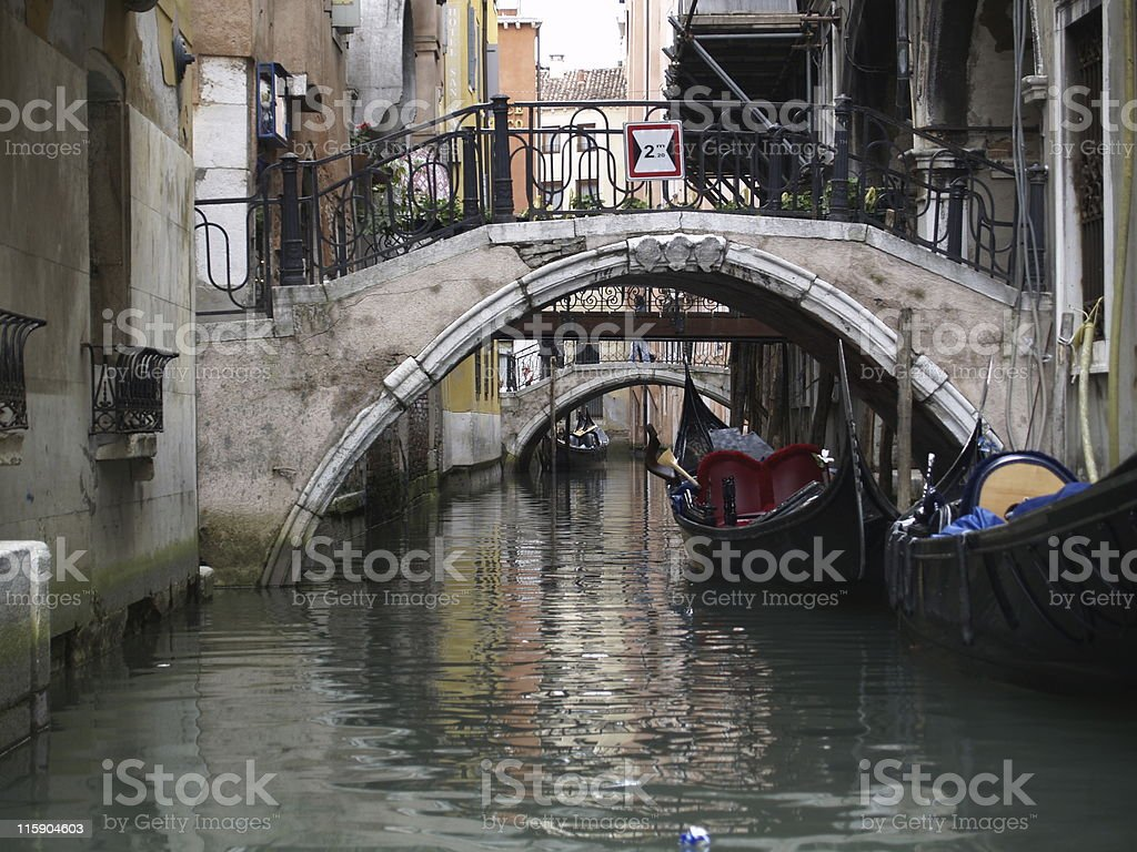Small bridge in Venice royalty-free stock photo