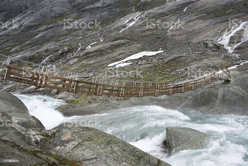 small bridge over a river stock photo