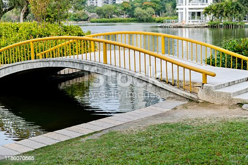 Small bridge over the lake.