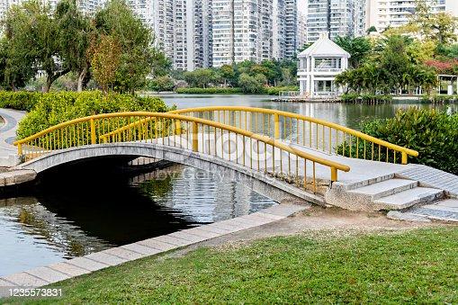 Small bridge over the lake.
