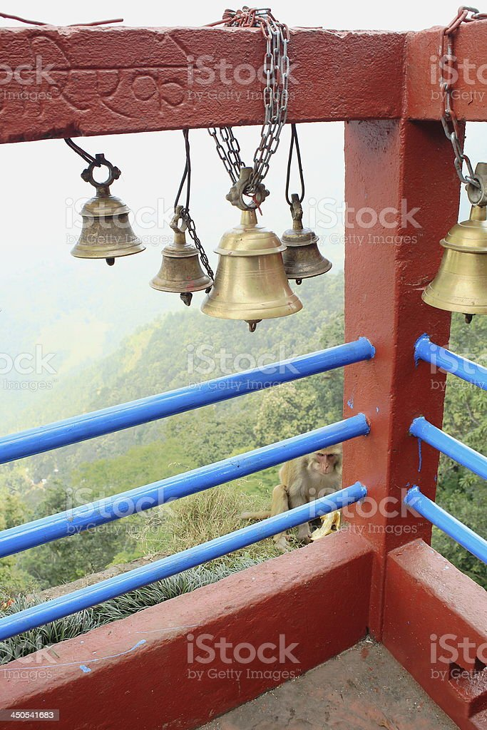 Small bronze bells. Manakama Mandir-Nepal. 0336 royalty-free stock photo