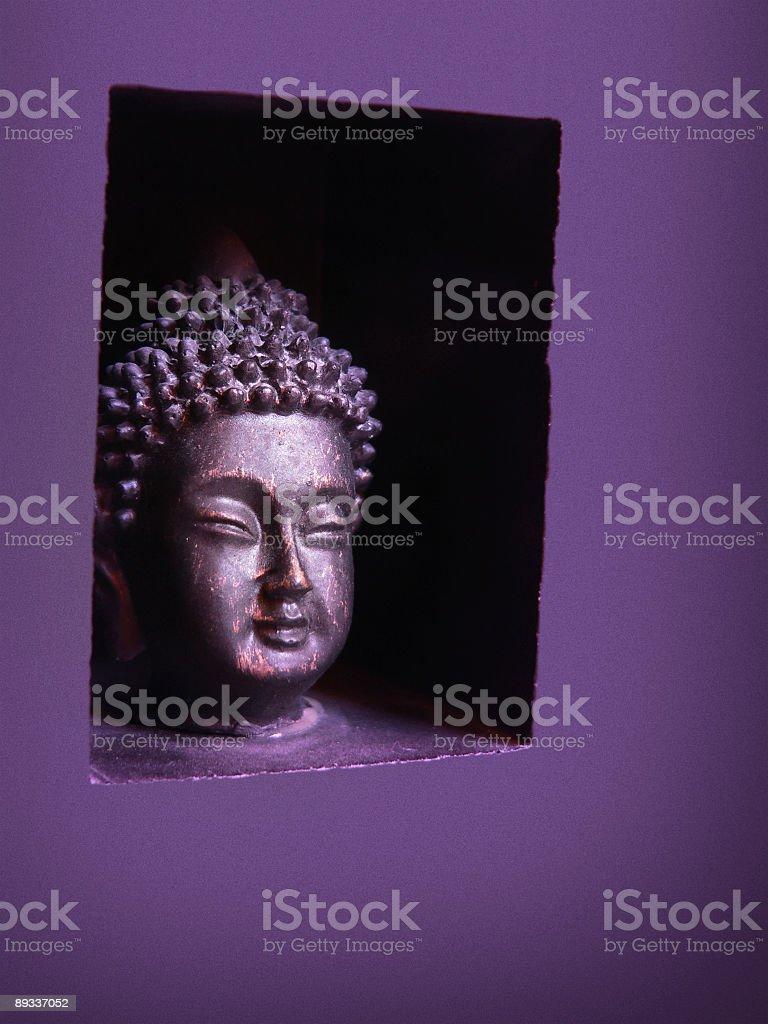 Tiny purple Buddha