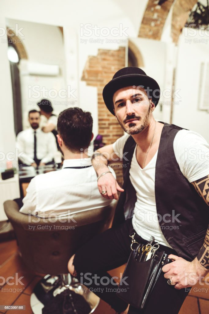 small business barber shop royalty-free stock photo