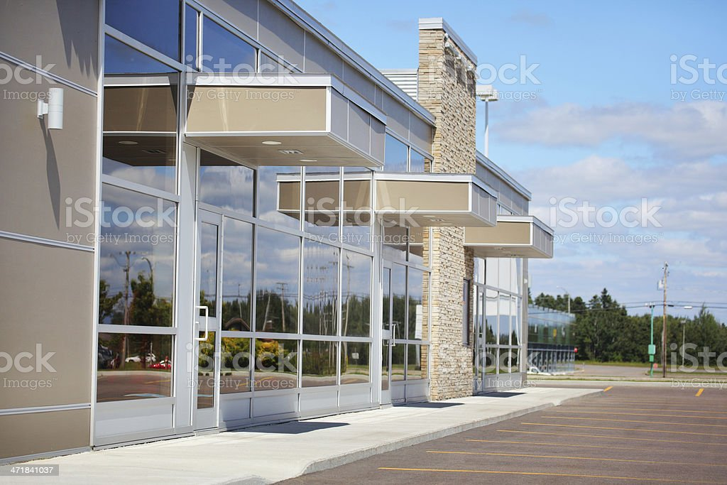 Small Business Building Entrances stock photo