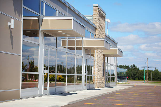 Small Business Building Entrances stock photo