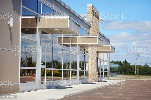 Small Business Building Entrances Stock Photo - Download Image Now