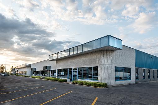 Small business building exterior