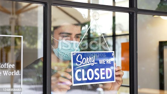 Small business closing during COVID-19 pandemic.